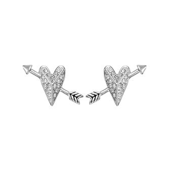 Karl Lagerfeld Ikonik Arrow Heart Rhodium Platedearrings - Product number 2247739