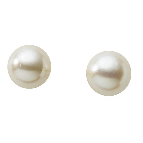9ct Gold 6mm Cultured Freshwater Pearl Stud Earrings - Product number 2248581