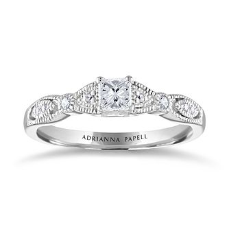 Adrianna Papell 14ct White Gold 0.34ct Diamond Ring - Product number 2249197