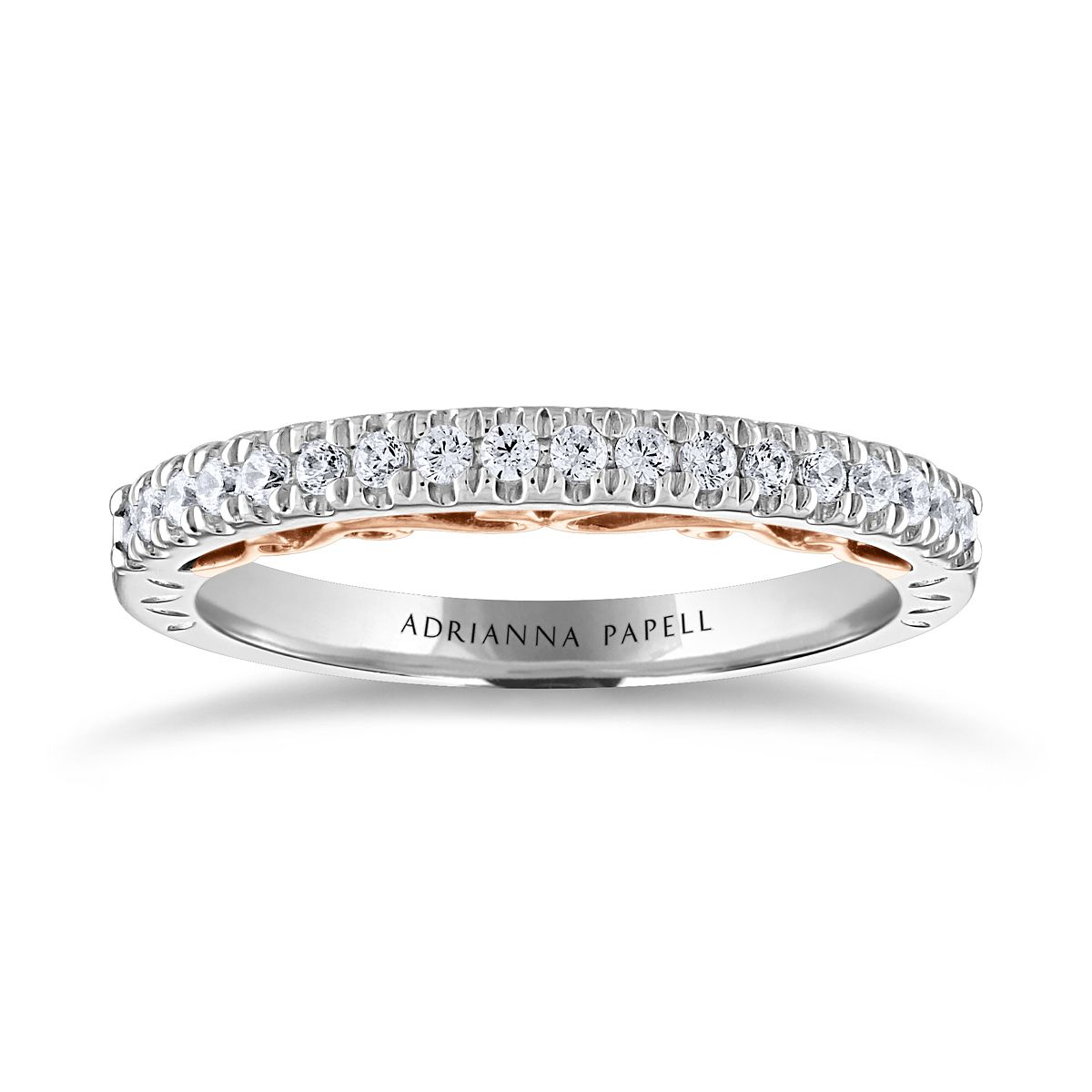 Adrianna Papell 14ct White & Rose Gold 0.25ct Diamond Band - Product number 2250187