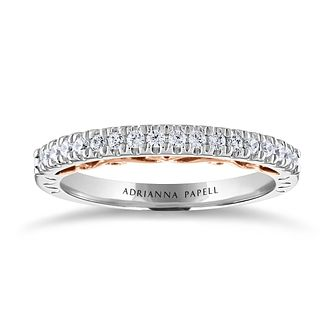 Adrianna Papell 14ct White & Rose Gold 0.25ct Diamond Ring - Product number 2250187