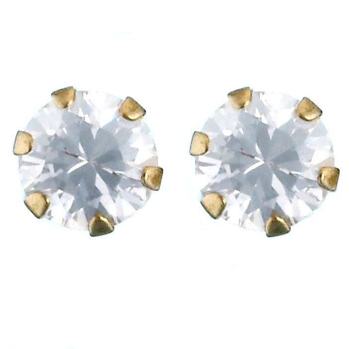 9ct Yellow Gold Cubic Zirconia 3mm Stud Earrings - Product number 2250772
