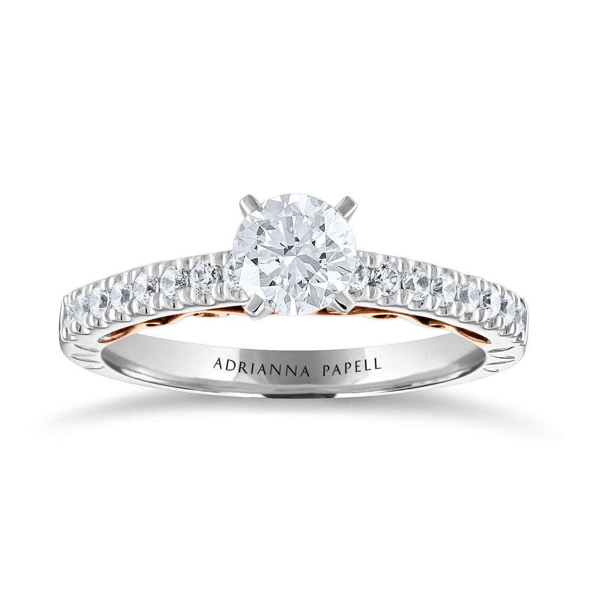 Adrianna Papell 14ct White & Rose Gold 0.75ct Diamond Ring - Product number 2250977