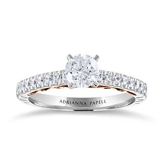 Adrianna Papell 14ct White Rose Gold 3/4ct Diamond Ring - Product number 2250977