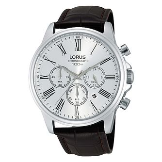 Lorus Men's Chronograph Brown Leather Strap Watch - Product number 2251965