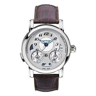 Montblanc Nicolas Rieussic men's brown leather strap watch - Product number 2252023