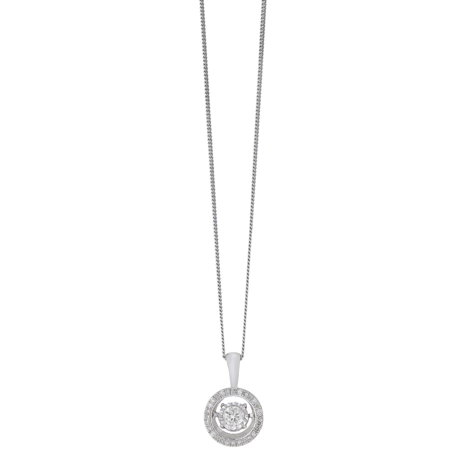 Diamonds In Rhythm 9ct White Gold 0.33ct Diamond Pendant - Product number 2260948
