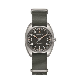 Hamilton Khaki Pilot Pioneer Mechanical Men's Strap Watch - Product number 2265931
