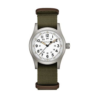 Hamilton Khaki Field Men's Green Strap Watch - Product number 2266016