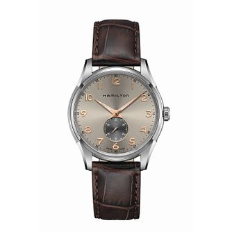 Hamilton Jazzmaster Men's Brown Leather Strap Watch - Product number 2266040