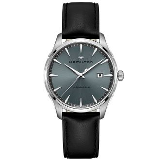 Hamilton Jazzmaster Men's Black Leather Watch - Product number 2266067
