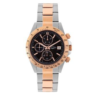 Rotary Men's Two Tone Chronograph Sports Watch - Product number 2268469