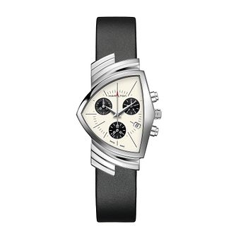 Hamilton Ventura Ladies' Black Leather Strap Watch - Product number 2269058