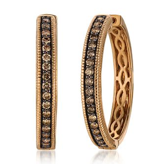 Le Vian 14ct Strawberry Gold Chocolate Diamond Hoop Earrings - Product number 2269244