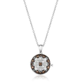 Le Vian 14ct Vanilla Gold 0.18ct Chocolate Diamond Locket - Product number 2270293