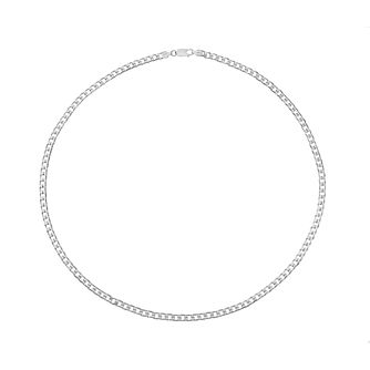 "Silver men's 24"" curb chain - Product number 2278731"