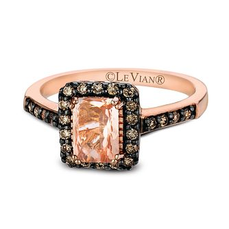 Le Vian 14ct Strawberry Gold Morganite & 0.25ct Diamond Ring - Product number 2281023