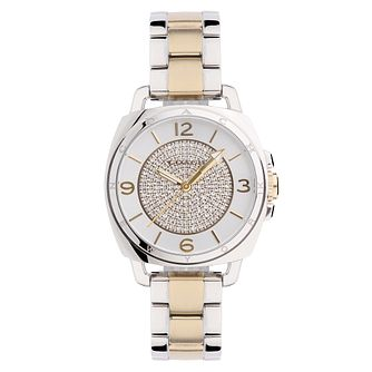 Coach Boyfriend Small ladies' two colour pave bracelet watch - Product number 2283654