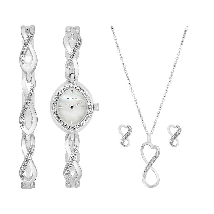 Sekonda La s Watch Bracelet Earring & Pendant Set