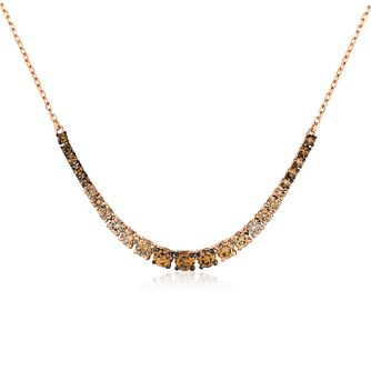 Le Vian 14ct Strawberry Gold Ombre Diamond Necklace - Product number 2290367