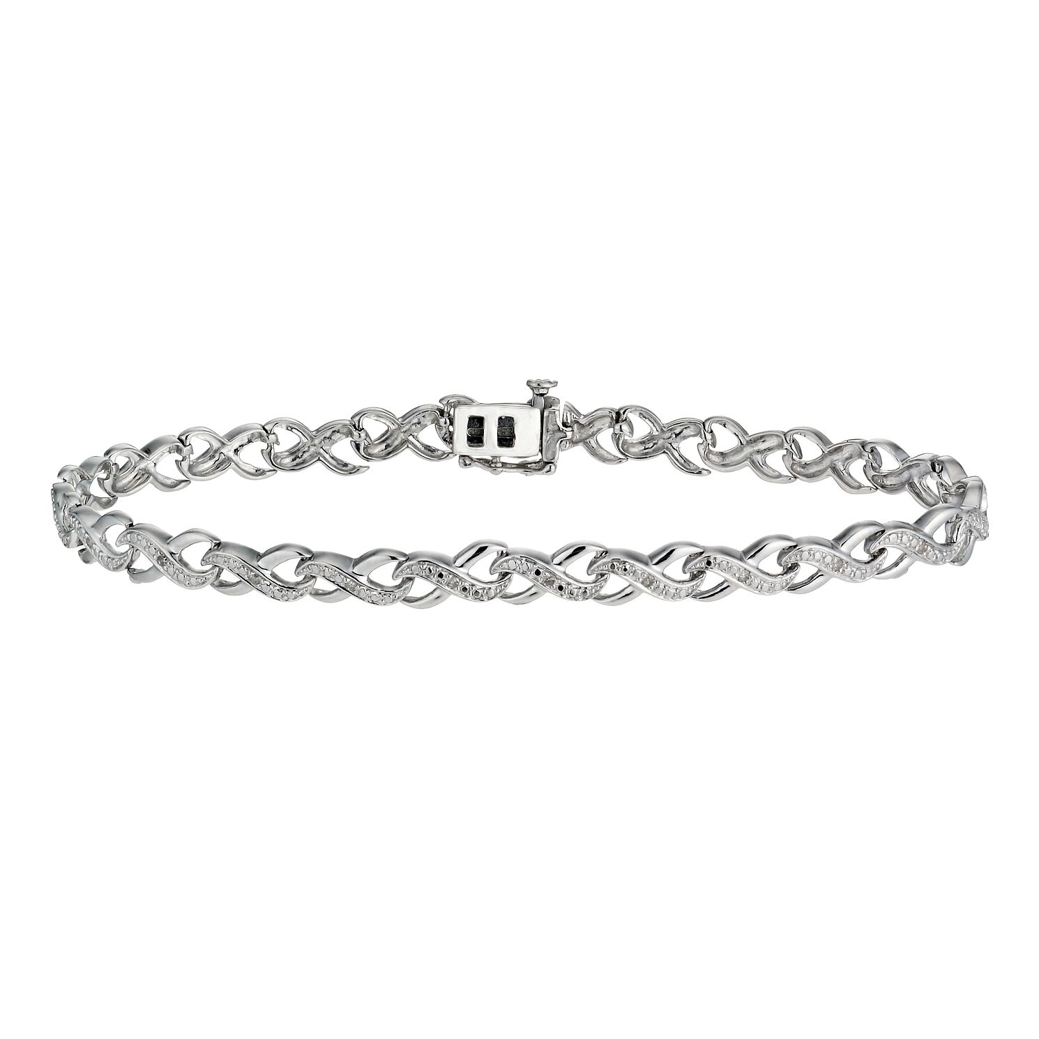 Kiss Collection Silver And Diamond Bracelet - Product number 2291010