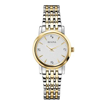 Bulova Diamond Gallery ladies' two colour bracelet watch - Product number 2293218