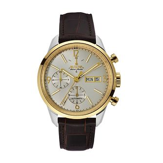 Bulova Accu-Swiss Murren men's brown leather strap watch - Product number 2293404