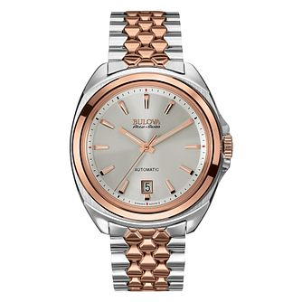 Bulova Accu-Swiss Telc Men's Two Colour Bracelet Watch - Product number 2293447