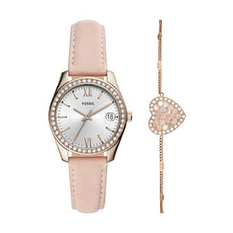 Fossil Scarlette Mini Ladies' Watch & Bracelet Gift Set - Product number 2293498