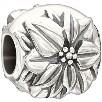 Chamilia Sterling Silver Poinsettia Flower December Charm - Product number 2293552
