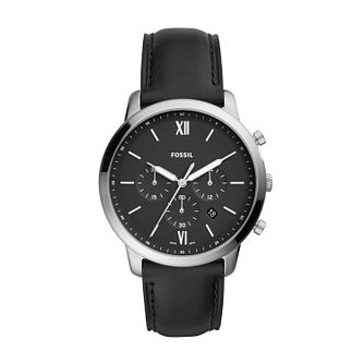 Fossil Neutra Chronograph Men's Black Leather Strap Watch - Product number 2293579