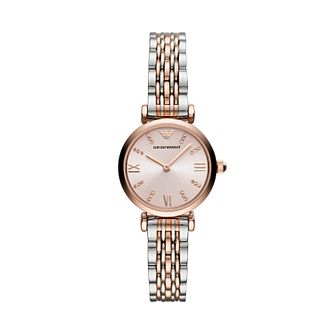 Emporio Armani Ladies' Two Tone Bracelet Watch - Product number 2293765