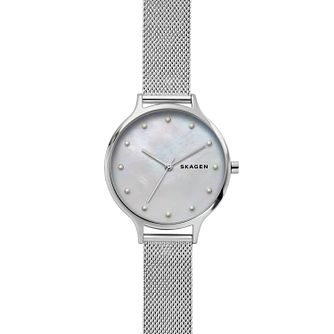 Skagen Anita Ladies' Stainless Steel Mesh Bracelet Watch - Product number 2294087
