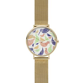 Skagen Aaren Ladies' Yellow Gold Tone Mesh Bracelet Watch - Product number 2294192
