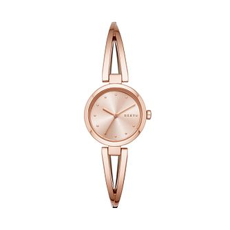 Dkny Crosswalk Ladies' Rose Gold Tone Bracelet Watch - Product number 2294222