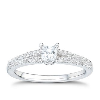 Tolkowsky 18ct White Gold 1/2ct I-I1 Diamond Ring - Product number 2294885