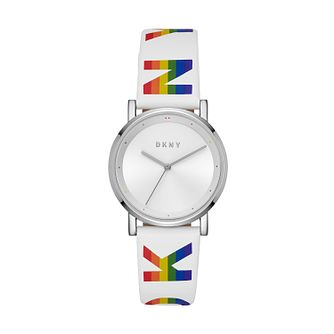 Dkny Soho Rainbow Ladies' White Strap Watch - Product number 2295571