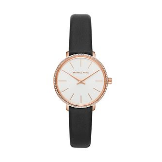 Michael Kors Mini Pyper Ladies' Brown Leather Strap Watch - Product number 2295628