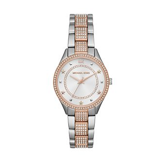 Michael Kors Mini Lauryn Two Tone Stone Set Bracelet Watch - Product number 2295644