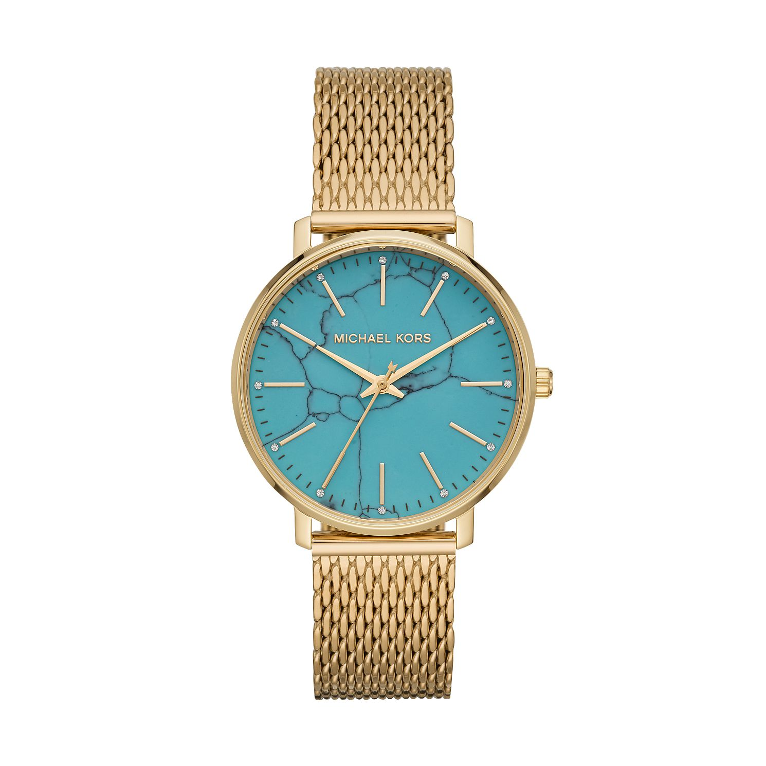 Michael Kors Pyper Ladies' Gold Tone Mesh Bracelet Watch - Product number 2295652