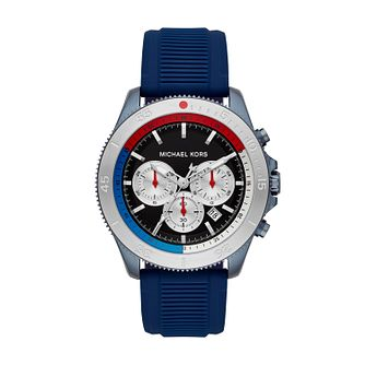 Michael Kors Cortlandt Men's Blue Silicone Strap Watch - Product number 2295695