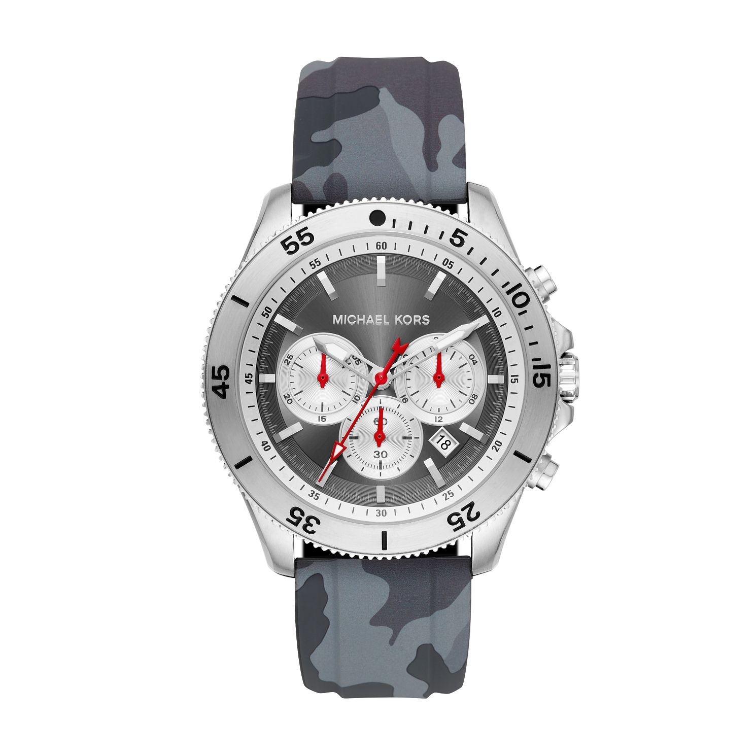 Michael Kors Cortlandt Men's Grey Silicone Strap Watch - Product number 2295725