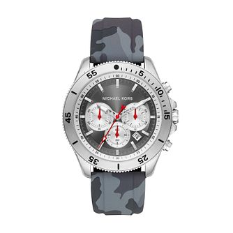 Michael Kors Theroux Men's Grey Silicone Strap Watch - Product number 2295725