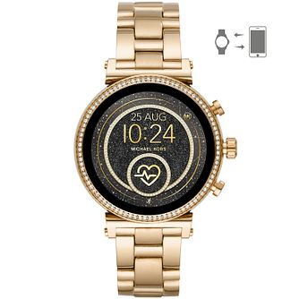 Michael Kors Sofie Gen 4 Ladies' Yellow Gold Tone Smartwatch - Product number 2295814