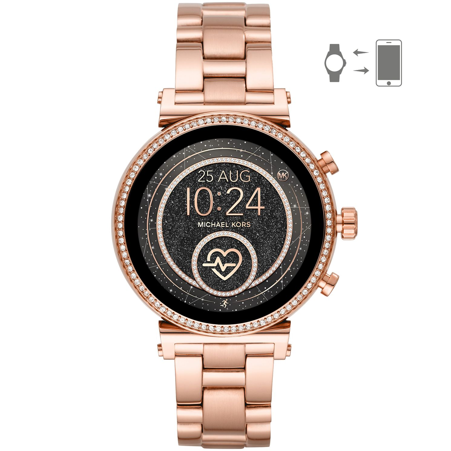 Michael Kors Sofie HR Gen 4 Rose Gold Tone Smartwatch - Product number 2295822