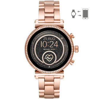Michael Kors Sofie Gen 4 Ladies' Rose Gold Tone Smartwatch - Product number 2295822