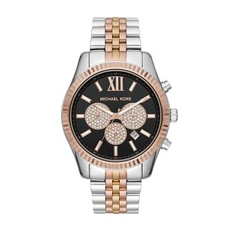 Michael Kors Lexington Men's Tri-Tone Bracelet Watch - Product number 2295873