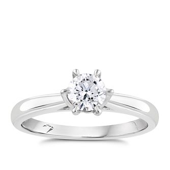 Arctic Light 18ct White Gold 1/2ct Diamond Solitaire Ring - Product number 2299909
