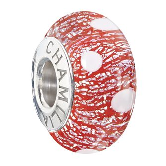 Chamilia Polka Dot Murano Glass Santa's Helper Bead - Product number 2303043