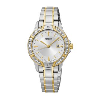 Seiko Ladies' Two Tone Swarovski Elements Bracelet Watch - Product number 2303345